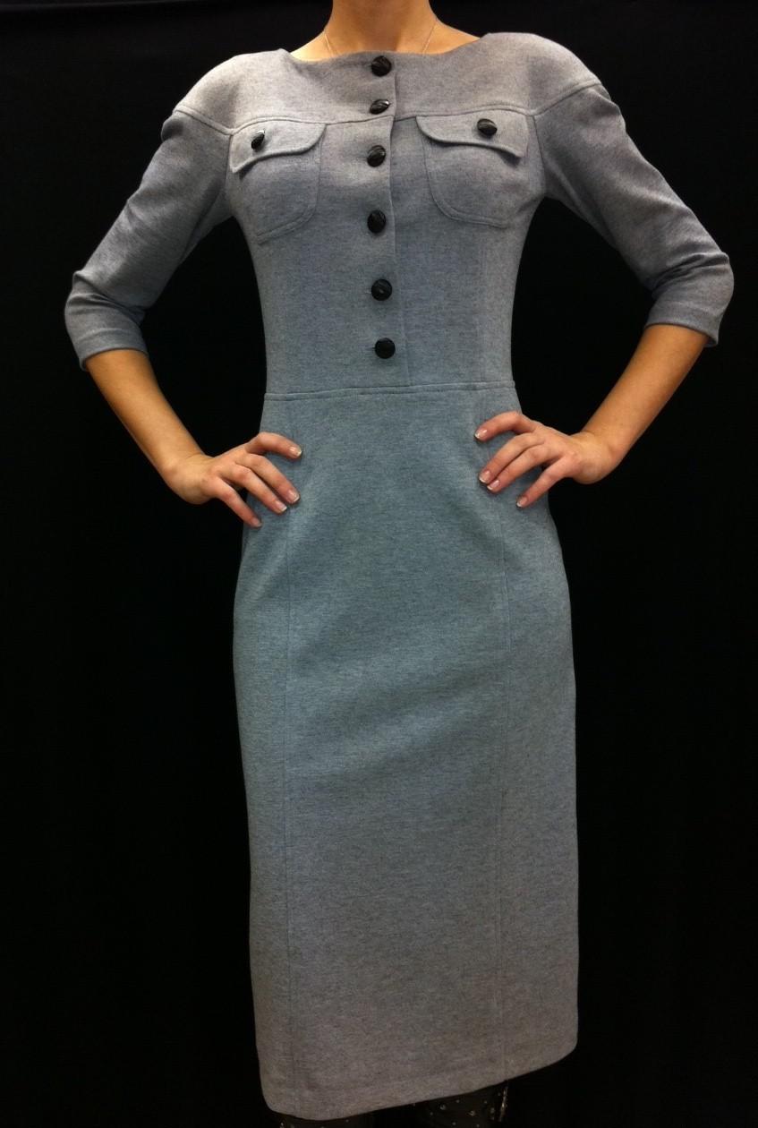 Сшить трикотажное платье своими руками фото